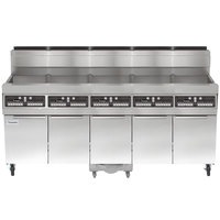 Frymaster SCFHD560G 400 lb. 5 Unit Natural Gas Floor Fryer System with CM3.5 Controls and Filtration System - 625,000 BTU