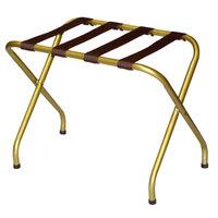 CSL 155I-BL-1 Flat Top Series Antique Inca Gold Metal Luggage Rack