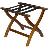 CSL 77WAL Premier Series Walnut Wood Luggage Rack - 3/Pack