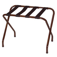 CSL 155WA-BL-1 Flat Top Series Walnut Metal Luggage Rack