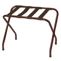 CSL 155WA-BN-1 Flat Top Series Walnut Metal Luggage Rack