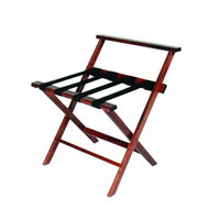 CSL TLR-100WBCM American Hardwood Series Cherry Mahogany High Back Wood Luggage Rack - 3/Pack