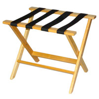 CSL TLR-100L American Hardwood Series Light Oak Wood Luggage Rack - 3/Pack