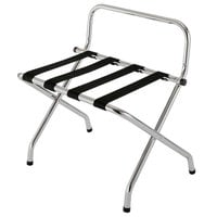 CSL 1055C-BL Chrome Metal High Back Luggage Rack with Wall Guard - 6/Pack