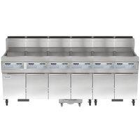 Frymaster SCFHD660G 480 lb. 6 Unit Liquid Propane Floor Fryer System with SMART4U 3000 Controls and Filtration System - 750,000 BTU