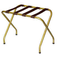 CSL 155I-BL Flat Top Series Antique Inca Gold Metal Luggage Rack - 6/Pack