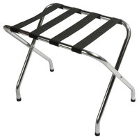 CSL S155C-BL Flat Top Series Zinc Metal Luggage Rack - 6/Pack