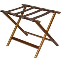 CSL 277DK-1 Economy Series Walnut Wood Luggage Rack
