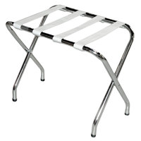 CSL 155C-SV-1 Flat Top Series Chrome Metal Luggage Rack