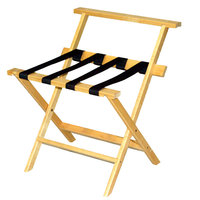 CSL TLR-100WBL-1 American Hardwood Series Light Oak High Back Wood Luggage Rack