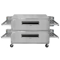 Lincoln 3255-2 Natural Gas Impinger Double Convyeor Oven Package with 55 inch Long Baking Chamber - 290,000 BTU