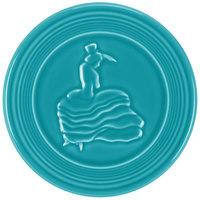 Homer Laughlin 443107 Fiesta Turquoise 6 inch Trivet - 6/Case