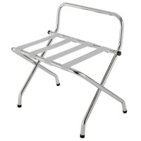 CSL 1055C-SV Chrome Metal High Back Luggage Rack with Wall Guard - 6/Pack
