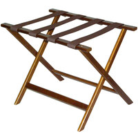 CSL 277DK Economy Series Walnut Wood Luggage Rack - 6/Pack