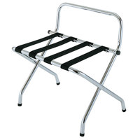 CSL S1055C-BL-1 Zinc Metal High Back Luggage Rack with Wall Guard