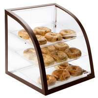 Cal-Mil P255-48 Euro Style Iron Brown Display Case - 16 inch x 16 1/2 inch x 16 1/2 inch