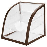 Cal-Mil P255-48 Iron Brown Display Case - 16 inch x 16 1/2 inch x 16 1/2 inch
