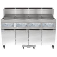 Frymaster SCFHD460G 320 lb. 4 Unit Liquid Propane Floor Fryer System with SMART4U 3000 Controls and Filtration System - 500,000 BTU