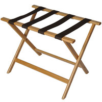 CSL 277LT Economy Series Light Wood Luggage Rack - 6/Pack