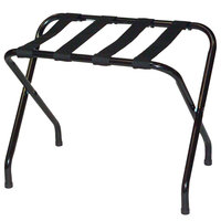 CSL 155BL-BL-1 Flat Top Series Black Metal Luggage Rack