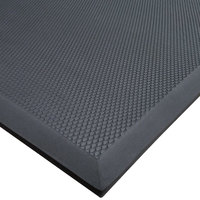Cactus Mat 2200-35 VIP Black Cloud 3' x 5' Black Grease-Proof Rubber Floor Mat - 3/4 inch Thick