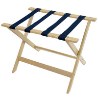 CSL 177WW Deluxe Series White Wash Wood Luggage Rack - 5/Pack