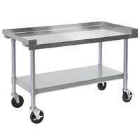 Bakers Pride HDS-48C (234801) 48 inch x 30 inch Mobile Stainless Steel Equipment Stand with Undershelf
