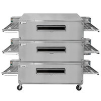Lincoln 3255-3 Natural Gas Impinger Triple Conveyor Oven Package with 55 inch Long Baking Chamber - 435,000 BTU