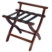 CSL 79MAH-L-1 Premier Series Mahogany High Back Wood Luggage Rack