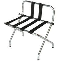 CSL S1055B-C-BL Zinc Metal High Back Luggage Rack with Back Webbing - 6/Pack