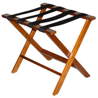 CSL TLR-100D American Hardwood Series Dark Oak Wood Luggage Rack - 3/Pack