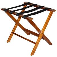 CSL TLR-100D American Hardwood Series Dark Oak Wood Luggage Rack - 3/Pack