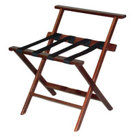 CSL TLR-100WBM-1 American Hardwood Series Mahogany High Back Wood Luggage Rack
