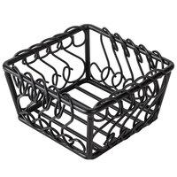 American Metalcraft BSB53 Wrought Iron Scroll Basket - 5 inch x 5 inch x 3 inch