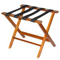 CSL TLR-100M American Hardwood Series Mahogany Wood Luggage Rack - 3/Pack