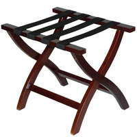 CSL 77MAH Premier Series Mahogany Wood Luggage Rack - 3/Pack