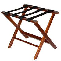 CSL TLR-100CM American Hardwood Series Cherry Mahogany Wood Luggage Rack - 3/Pack