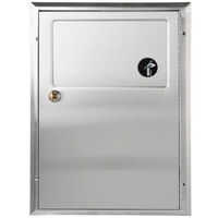 Bobrick B-354 ClassicSeries Partition-Mounted Santiary Napkin Disposal with Satin Finish