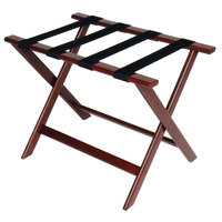 CSL 177CM Deluxe Series Cherry Mahogany Wood Luggage Rack - 5/Pack