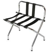 CSL 1055B-C-BL-1 Chrome Metal High Back Luggage Rack with Back Webbing   - 6/Pack