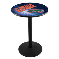 Holland Bar Stool L214B3628FLORUN-D2 28 inch Round University of Florida Pub Table with Round Base