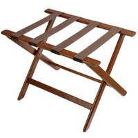CSL 177DK Deluxe Series Walnut Wood Luggage Rack - 5/Pack