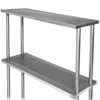 Advance Tabco PRDO-44-G 44 inch Double Overshelf with Glass Rack