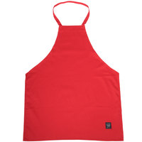 Chef Revival 601NP-RD Customizable Red Bib Apron - 34 inchL x 28 inchW
