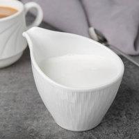 Syracuse China 909089728 Solario 6 oz. Royal Rideau White Porcelain Creamer - 24/Case