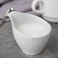 Syracuse China 909089727 Solario 3 oz. Royal Rideau White Porcelain Creamer - 24/Case