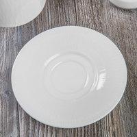 Syracuse China 909089715 Solario 6 1/4 inch Round Royal Rideau White Porcelain Saucer - 36/Case