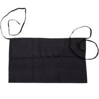 Chef Revival 605PS-BK Black 3-Pocket Waist Apron - 12 inchL x 24 inchW