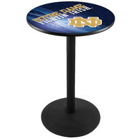 Holland Bar Stool L214B3628ND-ND-D2 28 inch Round University of Notre Dame Pub Table