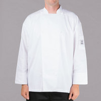 Chef Revival Silver White Size 56 (3X) Customizable Double-Breasted Performance Long Sleeve Chef Jacket with Mesh Back